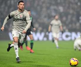 Cristiano esteve presente nos três golos da Juve. AFP