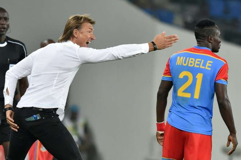 Moroccos French coach Herve Renard, seen in action during their 2017 Africa Cup of Nations Group C match between against DR Congo, in Oyem, on January 16