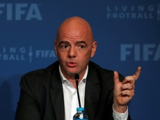 Infantino says most countries are in support to expanding the 2022 World Cup to 48 teams. AFP