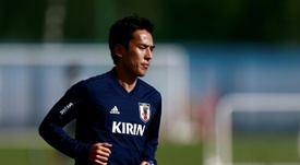 Hasebe says Japan are feeling more confident. AFP