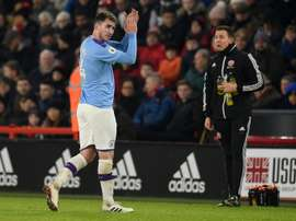 Laporte was back for the game. AFP