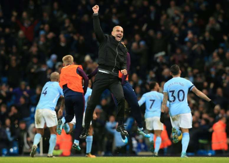 City have swashbuckled their way to the title. AFP