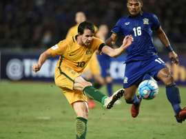 Australian player Robbie Kruse (L)  has already passed a medical at his new club Liaoning. AFP