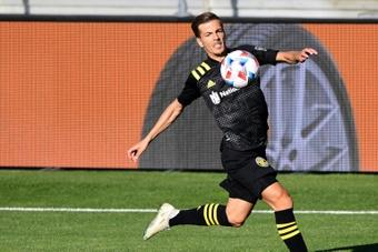Columbus Crew consiguió rescatar un valioso punto en un partido que se le puso cuesta arriba. AFP