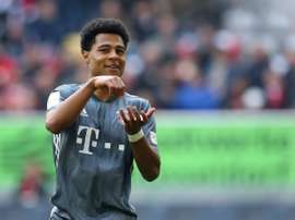 The Bayern president has been impressed with Gnabry this campaign. AFP