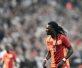 Gomis collapsed during Galatasaray's Super Lig defeat. AFP