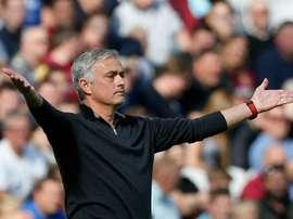 Jose Mourinho West Ham Manchester United. AFP