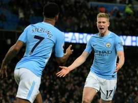 City will improve Sterling and De Bruyne's contracts. AFP
