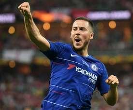 Hazard e outros jogadores que fizeram a travessia Chelsea-Real. AFP