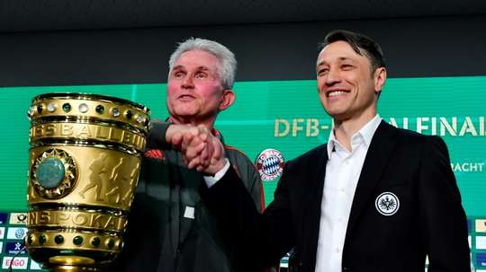 Future Bayern Munich boss Nico Kovac takes on current manager Jupp Heynckes. AFP