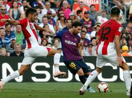 Les compos probables du match de Liga entre l'Athletic et le Barça. AFP