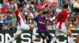 O Barça não se dá mal em San Mamés. AFP