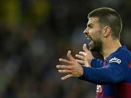Os cartões amarelos de Piqué mostram muito desse Barça. AFP
