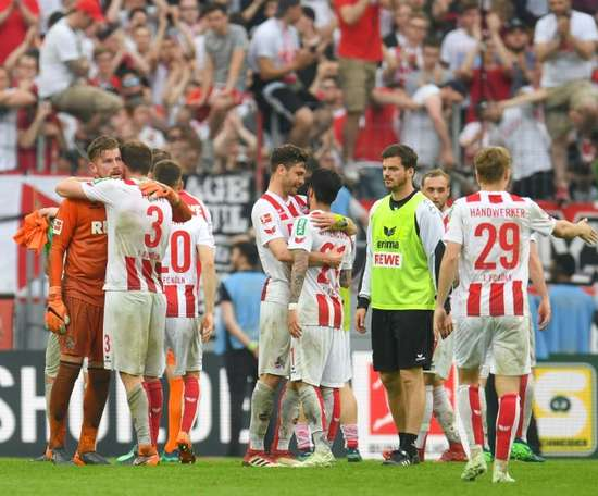 Cologne are facing the dismal prospect of relegation. AFP