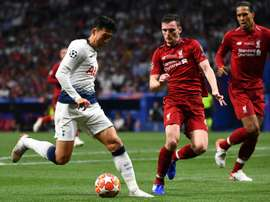 Robertson tastes Champions League glory with Liverpool last week. AFP