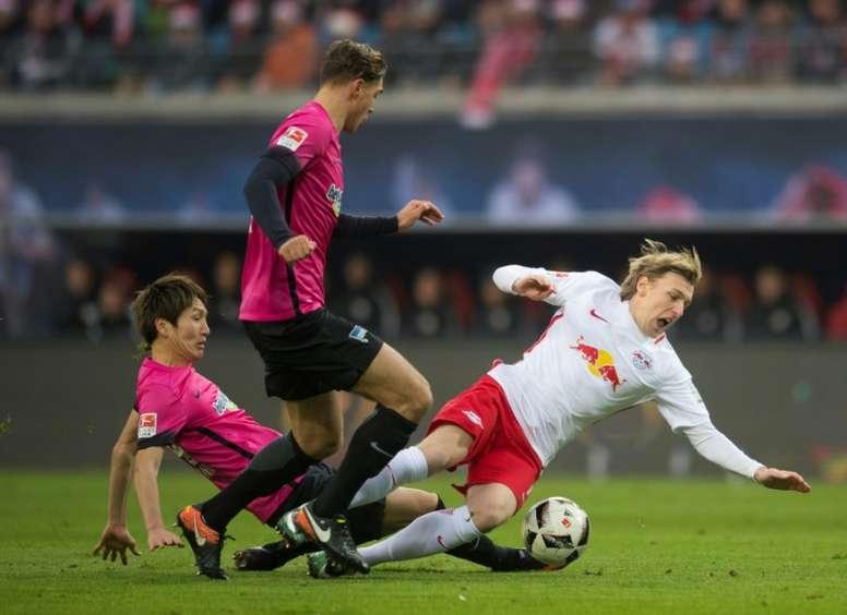 Prováveis escalações de RB Leipzig e Hertha Berlin. EFE