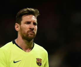 Para Huesca sem Messi, Rakitic, Busquets. AFP
