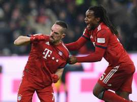 Ribery scored late. AFP