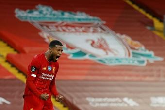 El Liverpool buscará sustituto a Wijnaldum. AFP