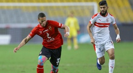 Sobhy (L) helped Egypt qualify for the 2020 Olympics. AFP