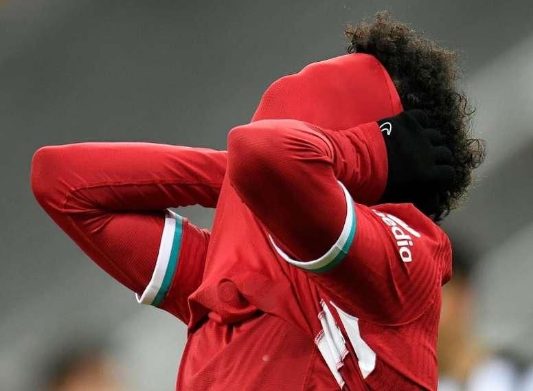 Mucho se está hablando acerca de si Salah está contento o no en el Liverpool. AFP/Archivo