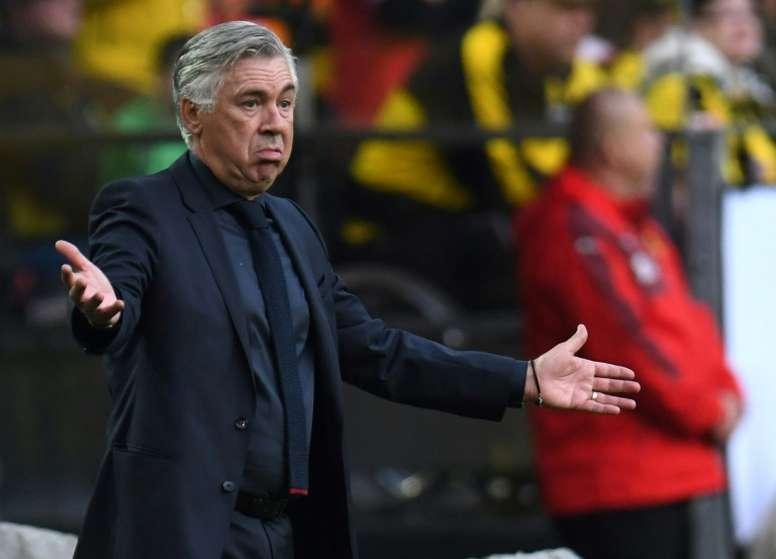 Ancelotti attendra le 30 juin pour trouver un nouveau projet. AFP