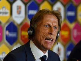 Christoph Daum, Romanias new coach, attends a press conference in Bucharest on July 7, 2016