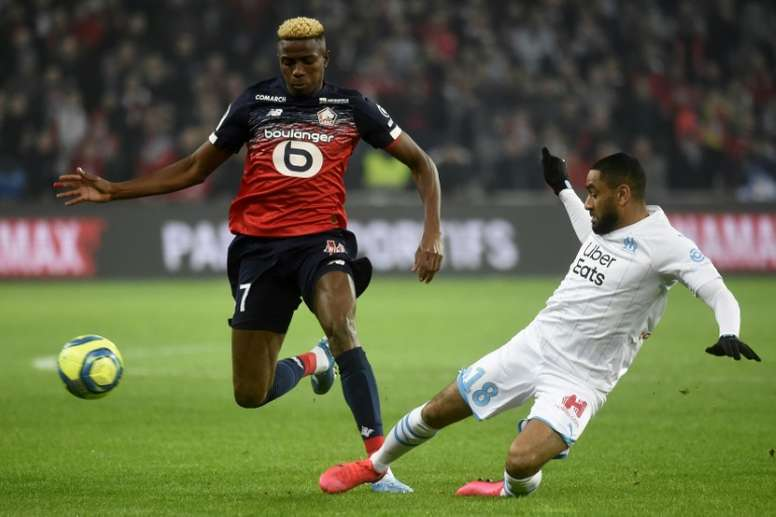 Lille rejected an offer from Spain for Osimhen. AFP