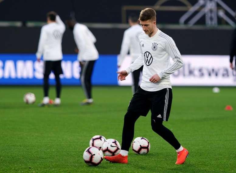 Touché au genou, Reus pourrait manquer le match face à l'Argentine. AFP