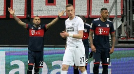 Vidal sent Bayern eight points clear at the top of the Bundesliga. AFP