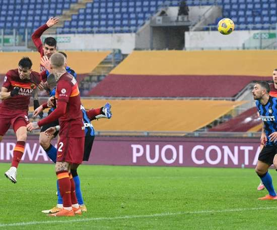 Late Mancini equaliser stalls Inter in Rome. AFP