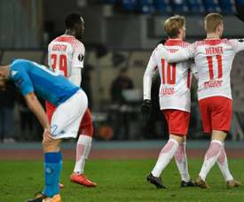 Leipzig came from behind to defeat Napoli. AFP