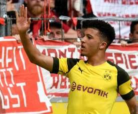 Jadon Sancho has had a brilliant Bundesiga season. AFP