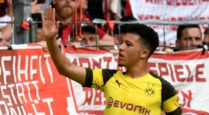 Sancho excelled at Borussia Dortmund last season. AFP