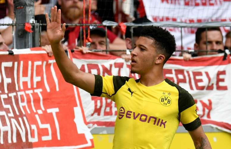 Jadon Sancho has had a brilliant Bundesiga season. AFP