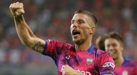 Podolski ya tendría un acuerdo para regresar a Europa. AFP