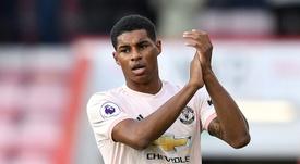 O jogador é uma das promessas do futebol inglês. AFP