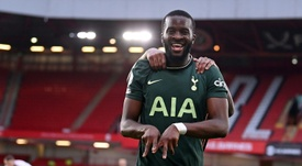 Ndombele killed off any hope of a Sheff Utd comeback as Tottenham won 1-3. AFP