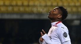 AC Milan's Portuguese forward Rafael Leao is set to release his first rap album. AFP