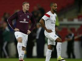 The two England internationals have linked up at Everton. AFP