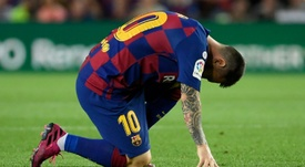 Valverde substituiu Messi por precaução. AFP