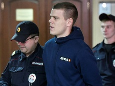 The two footballers are on trial for attacking a driver. AFP
