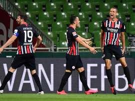 Frankfurt beat Werder Bremen 3-0. AFP