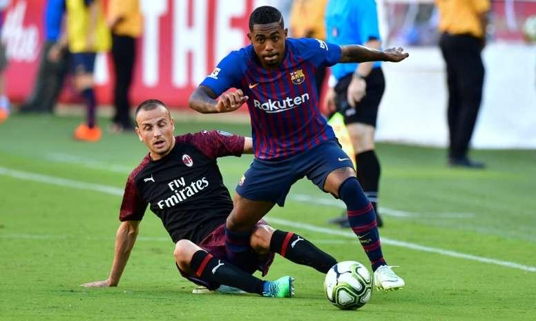 Malcom n'a pas vraiment eu sa chance en match officiel. AFP