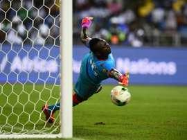 Burkina Fasos goalkeeper Herve Kouakou