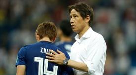 Los japoneses volvieron a dar ejemplo pese a la dolorosa derrota. AFP