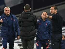 Le message de Mourinho après le limogeage de Lampard. AFP