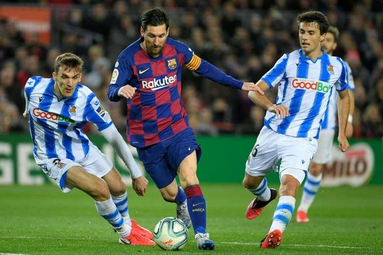 As melhores assistências de Messi na Champions. AFP
