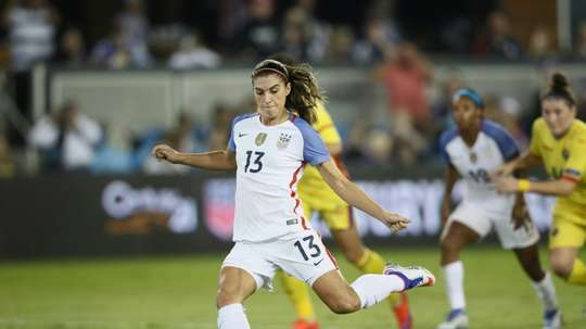 Alex Morgan scored her first hat-trick for Lyon.