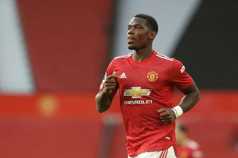 Pogba renovó su contrato con el United por un año hasta 2022. AFP